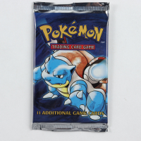 Pokemon Base Set Blastoise Booster Pack with (11) Cards at PristineAuction.com