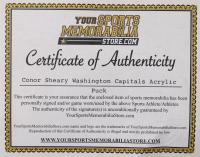 Conor Sheary Signed Capitals Logo Acrylic Hockey Puck (Your Sports Memorabilia Store COA) at PristineAuction.com