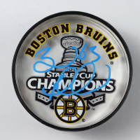 Brad Marchand Signed 2011 Stanley Cup Champions Bruins Logo Acrylic Hockey Puck (Marchand COA) at PristineAuction.com