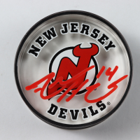 Adam Henrique Signed Devils Logo Acrylic Hockey Puck (Your Sports Memorabilia Store COA) at PristineAuction.com