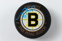 """Cam Neely Signed """"The Final Season"""" Bruins Logo Official Game Puck with Original Box (Neely COA) (See Description) at PristineAuction.com"""