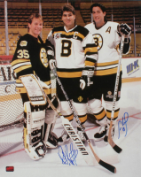 Cam Neely & Ray Bourque Signed Bruins 16x20 Photo (YSMS COA) at PristineAuction.com