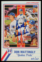 "Don Mattingly Signed LE 4x6 Yankees Post Card Inscribed ""Yankee Pride"" (MLB Hologram & Ironclad Hologram) at PristineAuction.com"