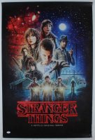 """Millie Bobby Brown Signed """"Stranger Things"""" 24x36 Poster Print Inscribed """"011"""" (JSA COA) (See Description) at PristineAuction.com"""