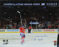 "Marian Hossa Signed Blackhawks 16x20 Photo Inscribed ""10/18/16"" (YSMS COA) at PristineAuction.com"