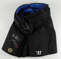 "Brad Marchand Signed Bruins Game-Worn Hockey Pants Inscribed ""Game Worn"" (YSMS COA) at PristineAuction.com"