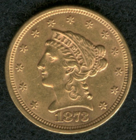 1873 $2.50 Liberty Gold Coin at PristineAuction.com