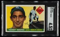 Sandy Koufax 1955 Topps #123 RC (SGC 4.5) at PristineAuction.com