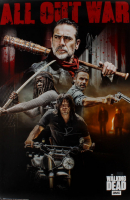 "Jeffrey Dean Morgan & Norman Reedus Signed The Walking Dead ""All Out War"" 24x36 Poster Inscribed ""Negan"" (Radtke COA) (See Description) at PristineAuction.com"