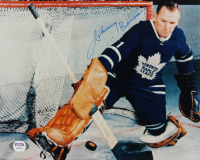 Johnny Bower Signed Maple Leafs 8x10 Photo (PSA COA) at PristineAuction.com