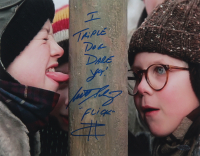 "Scott Schwartz Signed ""A Christmas Story"" 11x14 Photo Inscribed ""I Triple Dog Dare Ya!"" & ""Flick"" (Playball Ink Hologram) at PristineAuction.com"