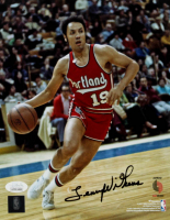 Lenny Wilkins Signed Trail Blazers 8x10 Photo (JSA COA) at PristineAuction.com