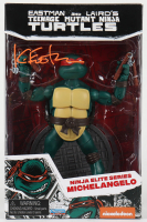 "Kevin Eastman Signed ""Teenage Mutant Ninja Turtles"" - Michelangelo - Ninja Elite Series Action Figure (PA COA) at PristineAuction.com"