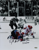 Darren McCarty Signed Red Wings 11x14 Photo With Multiple Inscriptions (Playball Ink Hologram) at PristineAuction.com