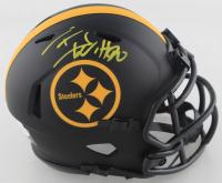 T.J. Watt Signed Steelers Eclipse Alternate Speed Mini Helmet (Beckett COA) at PristineAuction.com