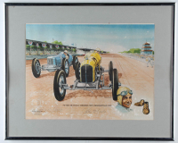 Pete DePaolo Signed LE 1925 Indianapolis 500 16x20 Custom Framed Print Display (JSA LOA) (See Description) at PristineAuction.com