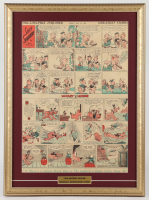 "Vintage 1934 Original Disney ""Mickey Mouse"" Comic Strip 18.5x25 Custom Framed Display at PristineAuction.com"