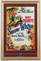 "Disneyland Fantasyland's ""Snow White's Adventures"" 15x22 Custom Framed Print Display with Vintage Snow White Pin at PristineAuction.com"