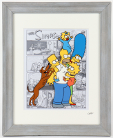 """The Simpsons"" 13.5x16.5 Custom Framed Hand-Painted Animation Cel Display at PristineAuction.com"