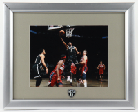Kevin Durant Nets 13x16 Custom Framed Photo Display with Nets Pin at PristineAuction.com