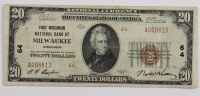 1929 $20 Twenty Dollar U.S. National Currency Brown Seal Bank Note at PristineAuction.com