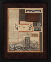 The Brooklyn Bridge Grand Opening 16x19.5 Custom Framed Display at PristineAuction.com