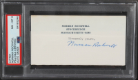 Norman Rockewell Signed 14.5x27.5 Custom Framed Cut Display With Print (PSA LOA & PSA Encapsulated) at PristineAuction.com