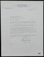 Mark W. Clark Signed 1977 Letter (PSA COA) at PristineAuction.com