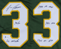 Jose Canseco Signed Jersey with Mulitple Inscriptions (Beckett COA) at PristineAuction.com