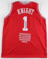 Bobby Knight Signed Jersey with Custom Stitched Quote (Beckett COA) at PristineAuction.com