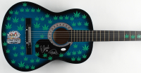 "Cheech Marin & Tommy Chong Signed 38"" Acoustic Guitar Inscribed ""19"" (JSA COA) at PristineAuction.com"
