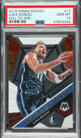 Luka Doncic 2019-20 Panini Mosaic Will to Win #13 (PSA 10) at PristineAuction.com