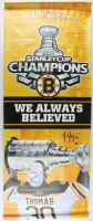 Tim Thomas Signed Bruins 2011 Stanley Cup Champions 23.5x56 Banner (YSMS COA) at PristineAuction.com