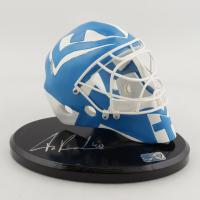 Tuukka Rask Signed Team Finland Mini Ceramic Goalie Mask with Display Stand (Rask COA) at PristineAuction.com