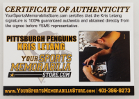 """Kris Letang Signed Steelers Mini Helmet Inscribed """"City of Champions"""" (Letang COA) at PristineAuction.com"""