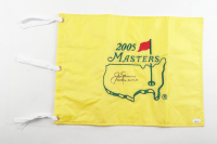 "Jack Nicklaus Signed 2005 Masters Golf Pin Flag Inscribed ""63, 65, 66, 72, 75, 86"" (JSA LOA) at PristineAuction.com"