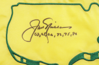"""Jack Nicklaus Signed 2005 Masters Golf Pin Flag Inscribed """"63, 65, 66, 72, 75, 86"""" (JSA LOA) at PristineAuction.com"""