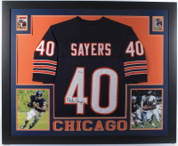 Gale Sayers Signed 35x43 Custom Framed Jersey (PSA COA) at PristineAuction.com