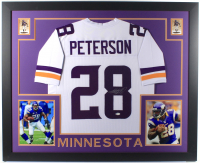 Adrian Peterson Signed 35x43 Custom Framed Jersey (Beckett COA) at PristineAuction.com