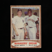 Mickey Mantle / Willie Mays 1962 Topps #18 Managers Dream at PristineAuction.com