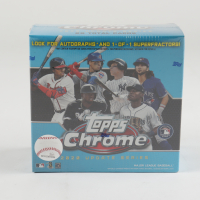 2020 Topps Chrome Update Series Baseball Mega Blue Box with (7) Packs at PristineAuction.com