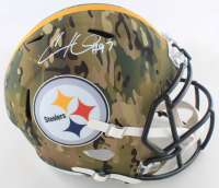 Cameron Heyward Signed Steelers Full-Size Camo Alternate Speed Helmet (Beckett COA) at PristineAuction.com