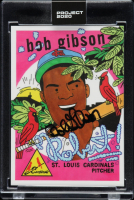 Bob Gibson Signed 2020 Topps Project 2020 #84 / Ermsy (JSA COA & Project 2020 Encapsulated) at PristineAuction.com