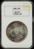 1885 Morgan Silver Dollar (NGC MS63) (Toned) at PristineAuction.com