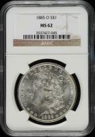 1885-O Morgan Silver Dollar (NGC MS62) (Toned) at PristineAuction.com