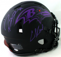 Ray Lewis & Ed Reed Signed Ravens Full-Size Authentic On-Field Eclipse Alternate Speed Helmet (Beckett COA) at PristineAuction.com