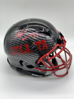 "Michael Vick Signed Full-Size Authentic On-Field Hydro-Dipped Vengeance Helmet Inscribed ""Dual Threat Goat"" (PSA COA) at PristineAuction.com"
