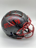 "Michael Vick Signed Full-Size Authentic On-Field Hydro-Dipped F7 Helmet Inscribed ""Dual Threat Goat"" (PSA COA) at PristineAuction.com"