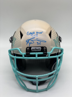 "Ricky Williams Signed Full-Size Hydro-Dipped Vengeance Helmet Inscribed ""Grass Over Turf"" (Radtke COA) at PristineAuction.com"