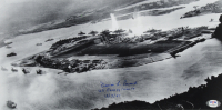"Francis Emond Signed 8x16 Photo Inscribed ""USS Pennsylvania 12/7/41"" (PSA COA) at PristineAuction.com"
